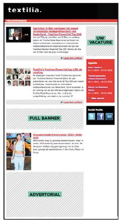 Standaard banners nieuwsbrieven