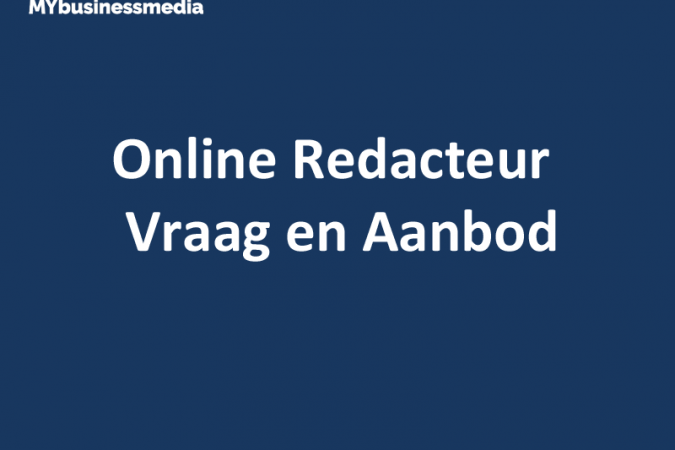 Online Redacteur Vraag en Aanbod