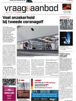 Vraag & Aanbod België cover